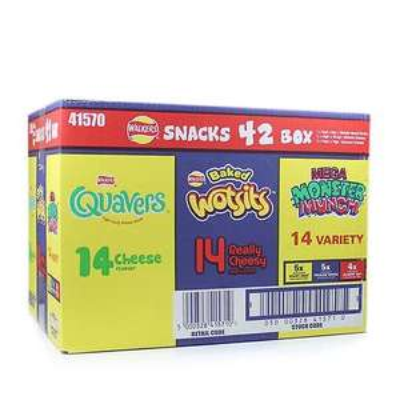 Farmfoods Walkers Snacks 42 box Wotsits/Quavers/Monster Munch £4 Less than 10p pkt