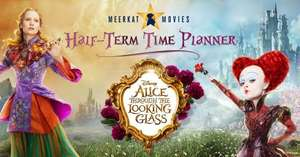 MEERKAT MOVIES half term planner. Alice through the looking glass.