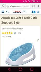 Angelcare Soft Touch Bath Support, Blue £16.67 - Tesco