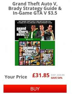 GTA V + Strategy Guide + $3.5m Game Money £31.85 @ shop to Xbox/PS4