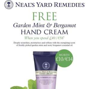 Neal's Yard free delivery weekend + free hand cream on orders over £40!