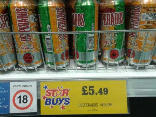 Desperados 4x 500ml cans £5.49 at Home Bargains
