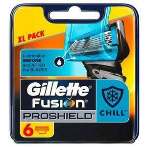 Gillette Fusion ProShield Chill Flexball Blade 6. Latest blades Buy 2 get 1 free £10.49 each superdrug