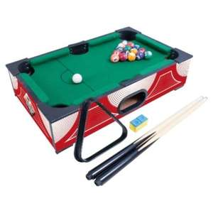 """Pot some balls!Tesco Direct 18"""" Mini pool table only £6 if spending over £30 and included in double clubcard boost!"""