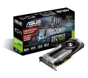 ASUS GeForce GTX 1080 Graphics Card (possible £520.79!! with TCB) £619.99 @ Currys
