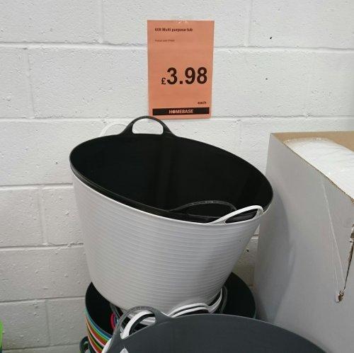 60l flexi tub for £3.98 at Homebase