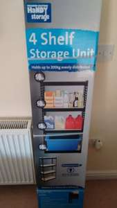 'Handy Storage' 4 x shelf unit lock-together metal & wood shelves - very sturdy - £13.87 each in store @ Homebase
