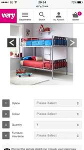 Kidspace Cyber Bunk Bed Frame @ Very