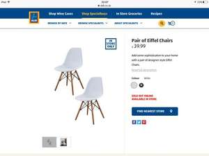 Aldi Scandinavian chairs x2 £39.99