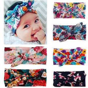 Baby Girl Turban Headband Kids Hair Bows 6 pieces Was £10.99 Now £6.99(Prime) £10.98 (Non Prime) @ Ok Star and FBA