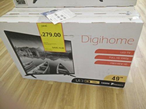 """Digihome 49"""" TV at £279.00 Tesco -  yardley"""