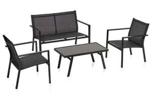 Textilene Lounge Set Charcoal Now £80.00 Free C&C @ Wilko