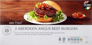 Tesco Finest Aberdeen Angus Burgers (2 per pack - 340g) was £2.75 now £1.37 @ Tesco