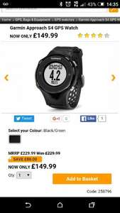 GARMIN S4 Approach GPS watch £135 with code @ onlinegolf
