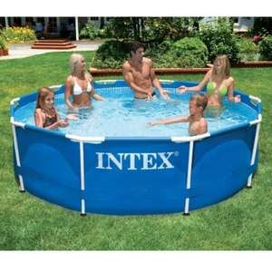 Intex 10 foot frame set round swimming pool £43.99 + free delivery Ebay carpartssaver