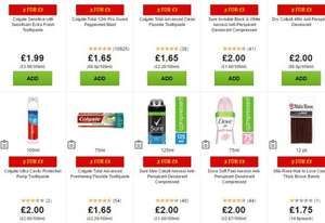 2 for £3 mix and match toiletries - 85 items - ASDA Nationwide