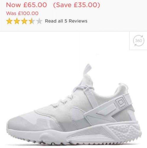 Men's Nike Air Huarache Utility £65 @ JD Sports - free c&c