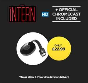 Chromecast 2 + The Intern HD + 2 month Now TV Entertainment pass £22.99 @ Wuaki