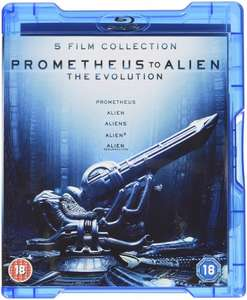 Prometheus to Alien: The Evolution Collection Blu Ray £5.74 [£3.74 with a £10 spend] @ Xtra-Vision