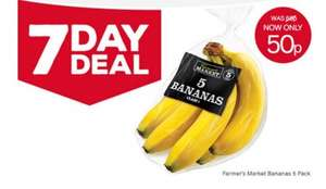 Iceland 7 day deal 5 pack of bananas 50p
