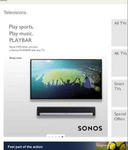 Save £100 on Sonos Playbar - when you buy any TV at John Lewis