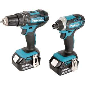 Makita DLX2131JX1 18V Li-Ion Twin Pack Combi Drill & Impact Driver 2 x 3.0Ah £199.98 @ Toolstation