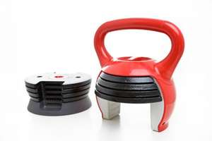 10Bell Adjustable Kettlebell (1.1kg - 11.4kg) and Exercise DVD plus FREE protein shaker and FREE lifting straps- £25 delivered @ Monstersupplements