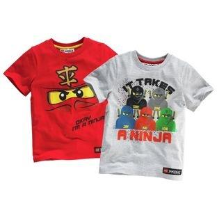 LEGO Ninjago T-Shirt 2 Pack now £5.99 at Argos
