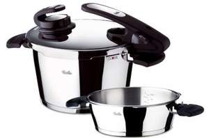 Fissler Pressure Cooker Vitavit 4.5l and 2.5l with steamer on amazon.co.uk clearance