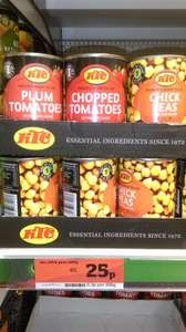 KTC Chopped Tomatoes, Plum Tomatoes and Chick Peas at Sainsburys