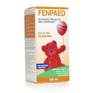 Fenpaed Ibuprofen/Paracetamol 100mg/5ml Oral Suspension - 95p In store @ Wilko