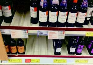 TESCO (Egham) loads of wines at £2.79 (red and white)