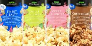 Asda Popcorn Seasoning 4 Varieties 25p each