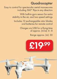 Quadrocopter £19.99 - LIDL - Fathers Day Promotion - Built in Gyro Sensor + 12 Exchangeable Rotor Blades