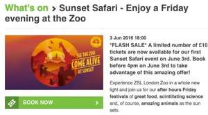 London Zoo Sunset Safari - Discount Tickets £10 3rd June! (usually £22.50)