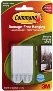 Command picture hanging strips £1.99 @ Rymans