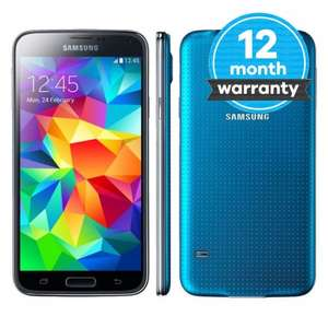 *Refurb* Samsung Galaxy S5 16GB SM-G900F Unlocked in Blue, w/ free delivery + 1 year warranty £128.99 @ musicmagpie eBay outlet