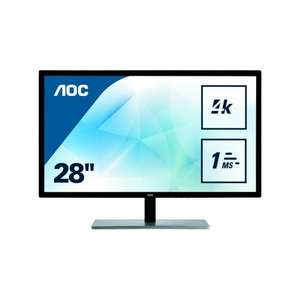 "AOC U2879VF 28"" FreeSync 4K Monitor for £264.99 with free delivery @ eBuyer"