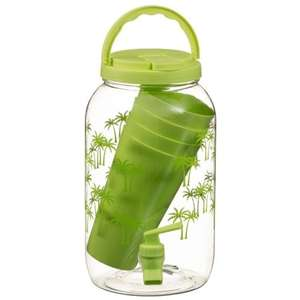 Drinks dispenser 3.6 litre with 4 tumblers £3.99 at B&M Stores