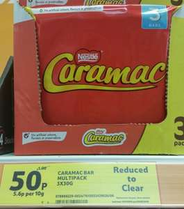 Caramac 3 Bar pack [90g] / Family Biscuit Selection [487g] / [Twix/Snicker/Mars 4 Bar Packs] 50p @ Tesco
