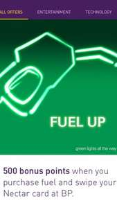 500 nectar points on any BP fuel spend
