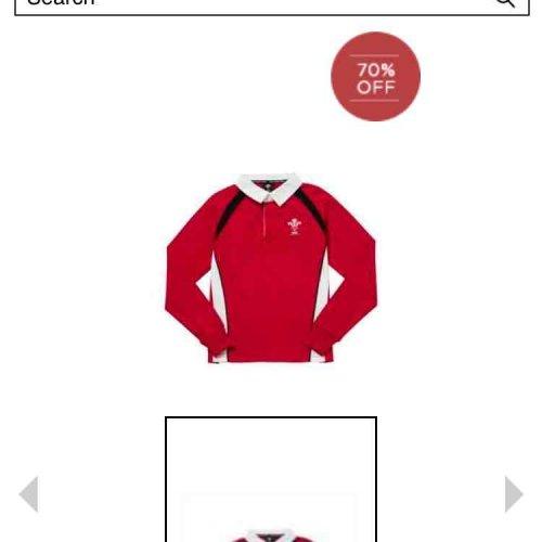 WRU boys rugby shirt was £18 now £4 @ F&F