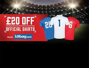 Carling 20pk for £10 (£20 off promotional voucher for international & club football shirts at Kitbag) @ Tesco