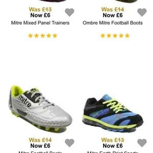 various kids MITRE football boots and trainers been £14 girls and boys £6 @ George/Asda