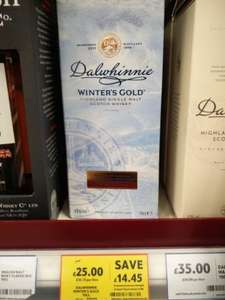 Dalwhinnie Winters Gold 70cl £25 at tesco
