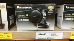 Panasonic cordless phone with answer machine now £50 instore @ Tesco