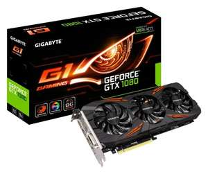 Gigabyte NVIDIA GeForce GTX 1080 G1 Gaming Edition Windforce 3x Fan 8 GB GDDR5X PCI-Express 3 Graphics Card - Black £559.99 @ Amazon (Temporarily out of stock)