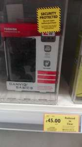 Toshiba Canvio Basics 2tb portable drive £45 @ Tesco