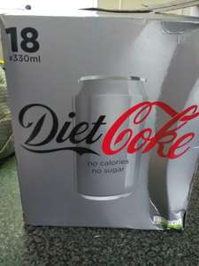 18 cans of diet coke 330ml £2.99 @ Heron Foods