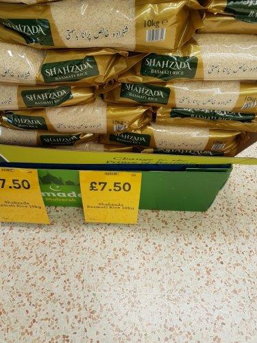 Shahzada Basmati rice 10KG £7.50 at Morrisons in store